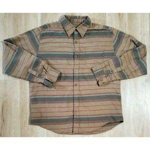 Marmot Mens Enfield Brown Flannel Shirt Size XL